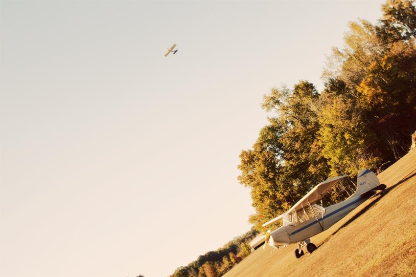 Vintage Planes Fly Over Wedding © Marni Mattner Photography