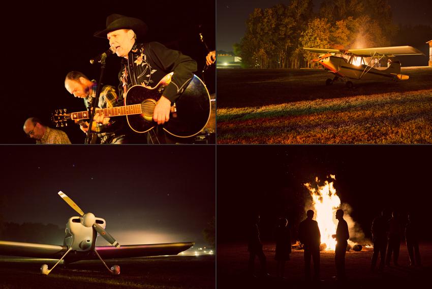 Honky Tonk Nashville Band, Vintage Airplanes and Bonfire © Marni Mattner Photography
