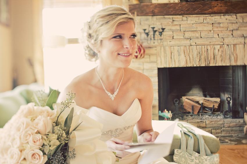 Kecia Reading a Sweet Note From Shaun Pre-Wedding © Marni Mattner Photography