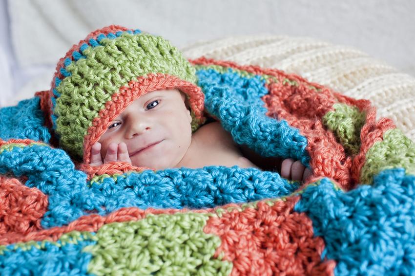 Newborn photography of baby Logan in Denver, Colorado