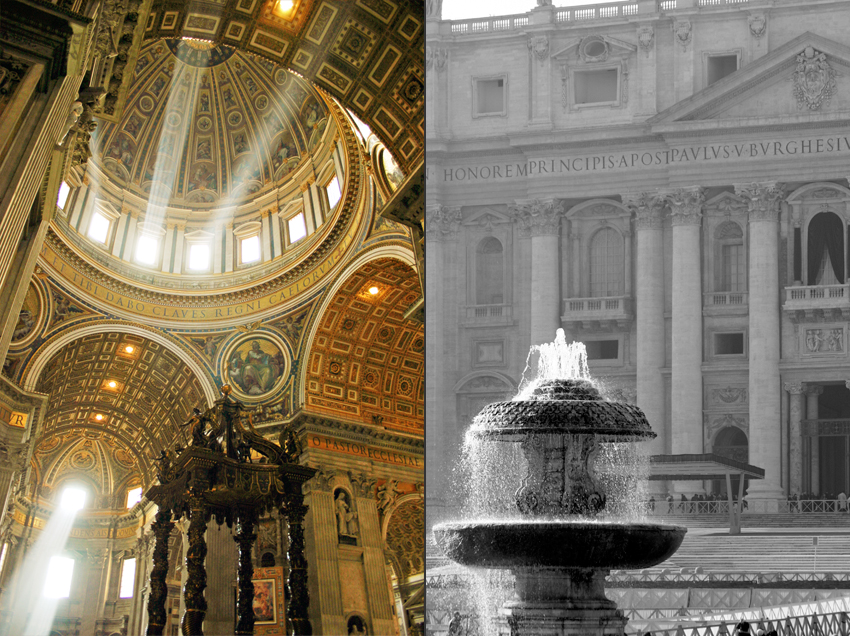 St. Peter's Basilica streams of light in church dome © Marni Mattner