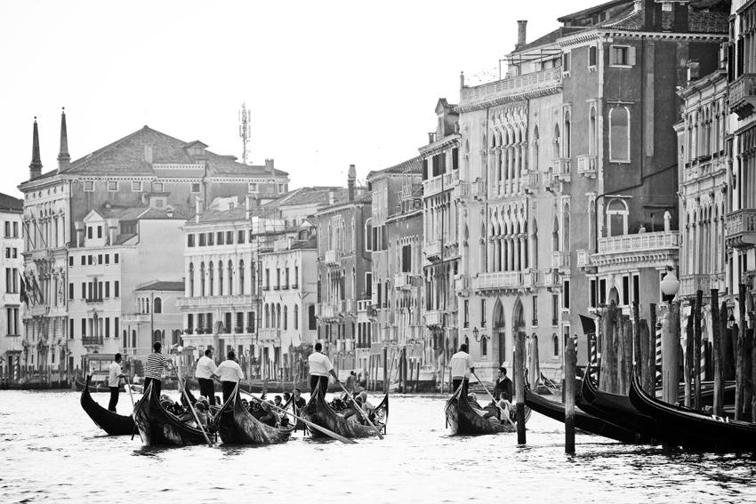 Gondolas on the Grand Canal in Venice © Marni Mattner