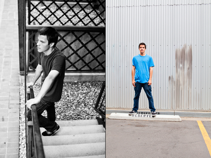 Kyle's Urban Denver Senior Photos © Marni Mattner Photography