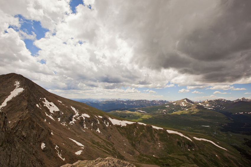 Sawtooth Ridge storm over the Colorado Rockies and Mt. Bierstadt © Marni Mattner Photography
