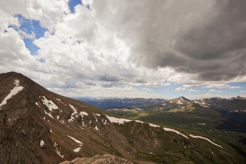 Sawtooth Ridge storm over the Colorado Rockies and Mt. Bierstadt © Marni Mattner Photography