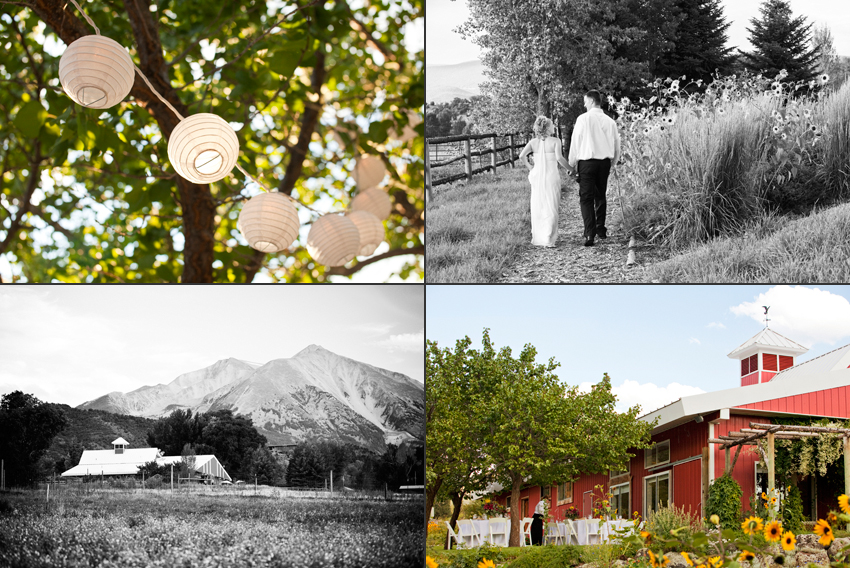 Wedding at Flying Dog Ranch in Carbondale, Colorado with Mt. Sopris in the Background © Marni Mattner Photography