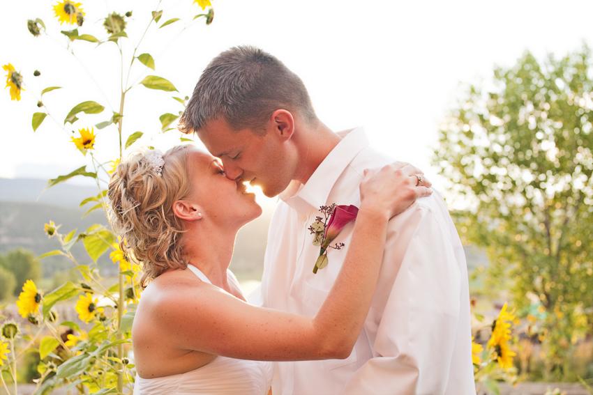 Backlit Bride & Groom Kiss at Sunset © Marni Mattner Photography