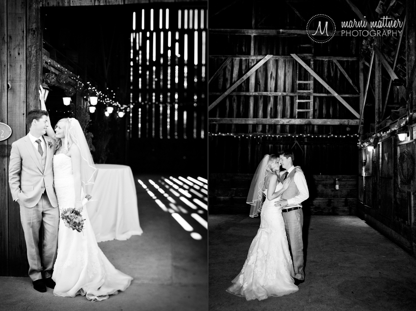 Ryan & Deirdra's Reception In The Healdsburg Country Gardens Barn © Marni Mattner Photography