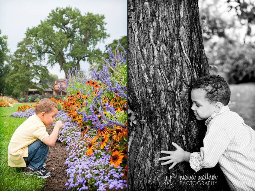 Trey Hugging a Tree in Denver's Wash Park © Marni Mattner Photography