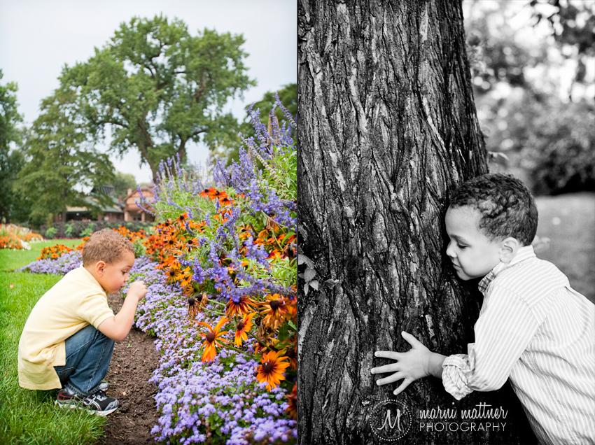 Trey Hugging a Tree in Denver's Wash Park © Marni Mattner Photography