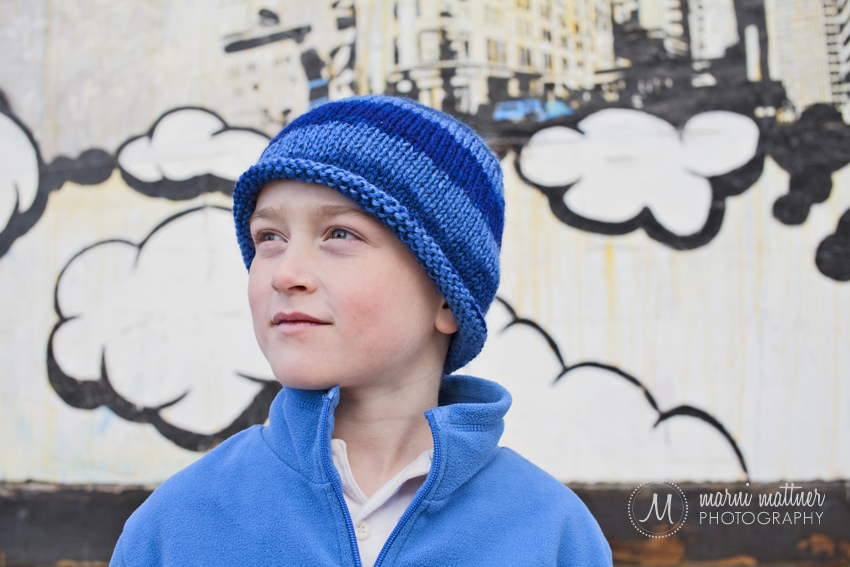 Jack in Denver's RINO for Sibling Portraits © Marni Mattner Photography