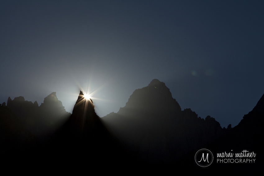Mt. Whitney Sunset As Seen From Mt. Whitney Portal in California © Marni Mattner Photography