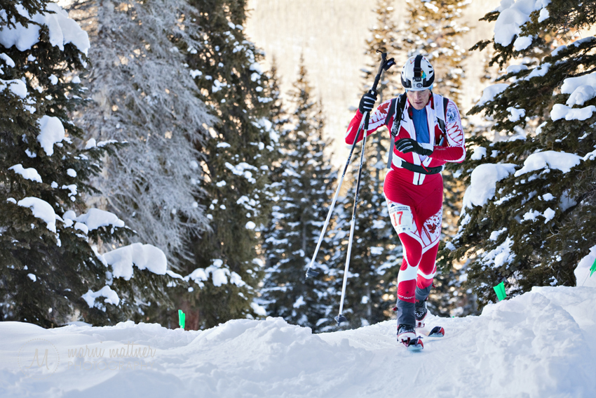 Skinning Uphill During the Sprint Race © Marni Mattner Photography
