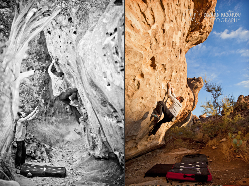 Hueco Tanks, Texas Bouldering on North Mountain © Marni Mattner Photography