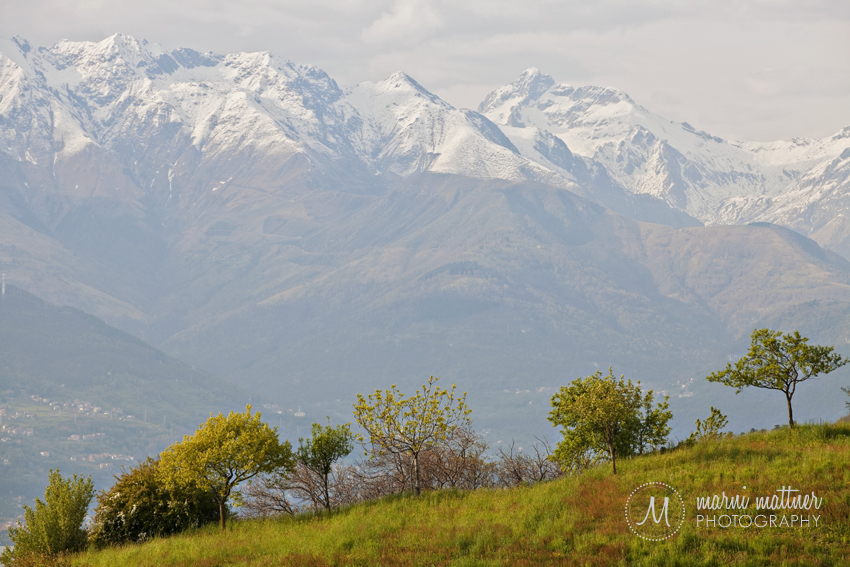 View Of The Swiss Alps From Valletta, Italy Near Lake Como © Marni Mattner Photography