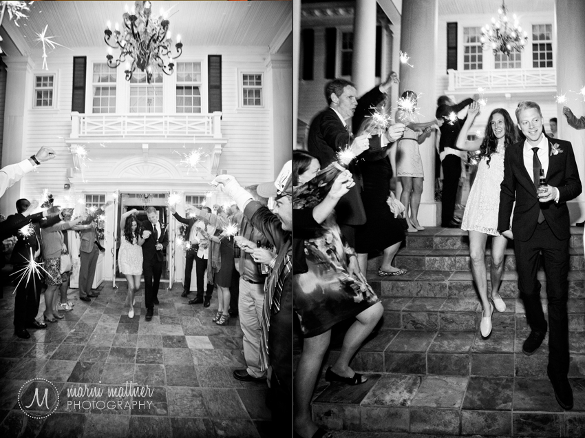 Sparkler Send-off From Wedding At Mansion in CO © Marni Mattner Photography