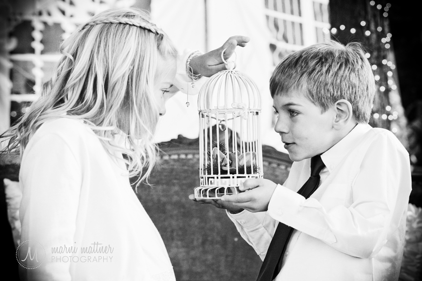 Flower Girl and Ring Bearer At Andrea & Steve's Manor House Wedding © Marni Mattner Photography