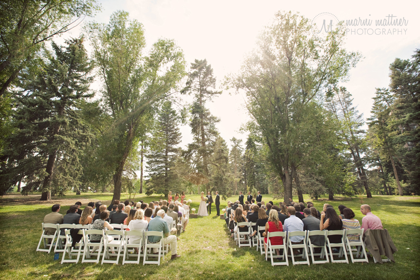 Megan & Logan's Wash Park wedding under a canopy of trees in Denver, Colorado © Marni Mattner Photography