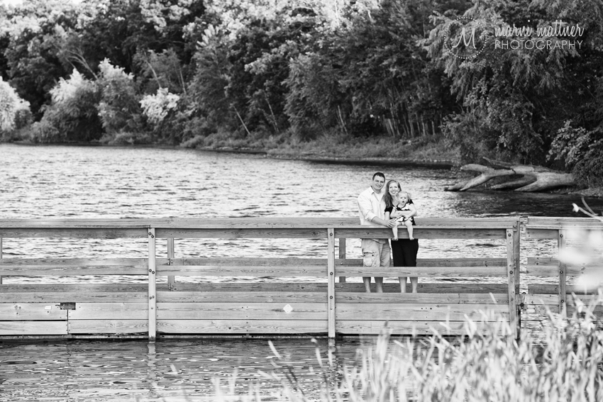 Rachel, Will and Isabelle at one of Minnesota's 10,000 Lakes for Family Portraits © Marni Mattner Photography