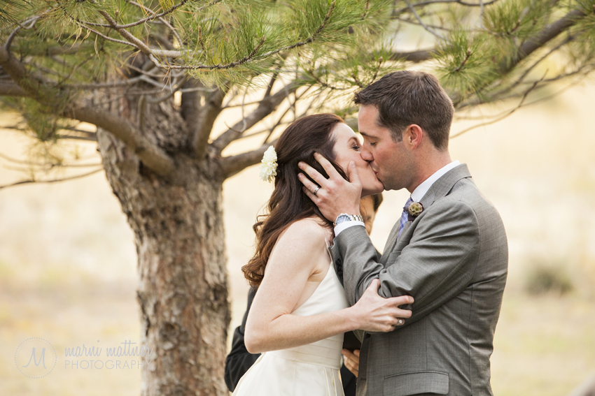 Patrick & Chrissy's First Kiss as a Married Couple! © Marni Mattner Photography