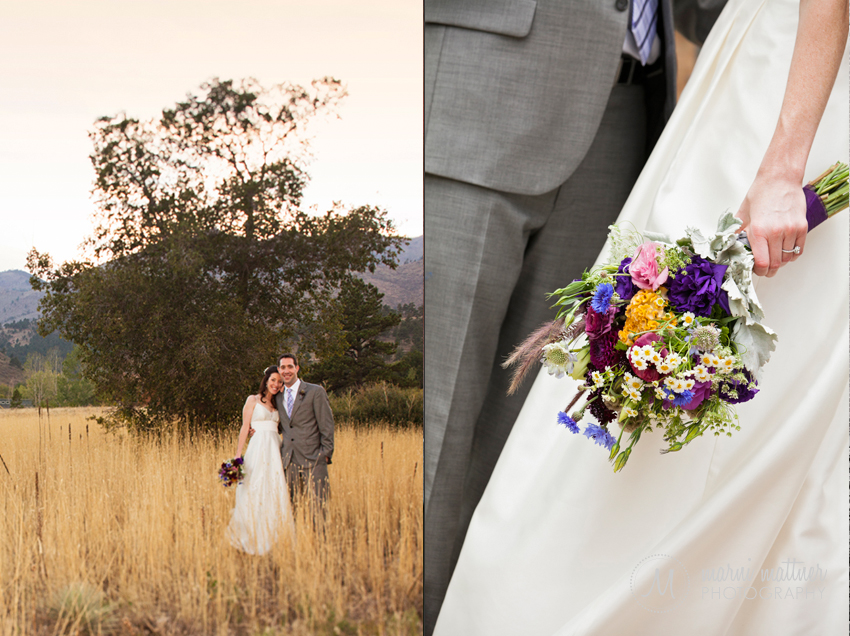 Boulder, CO Mountain Wedding Photos at Sunset of Patrick and Chrissy © Marni Mattner Photography
