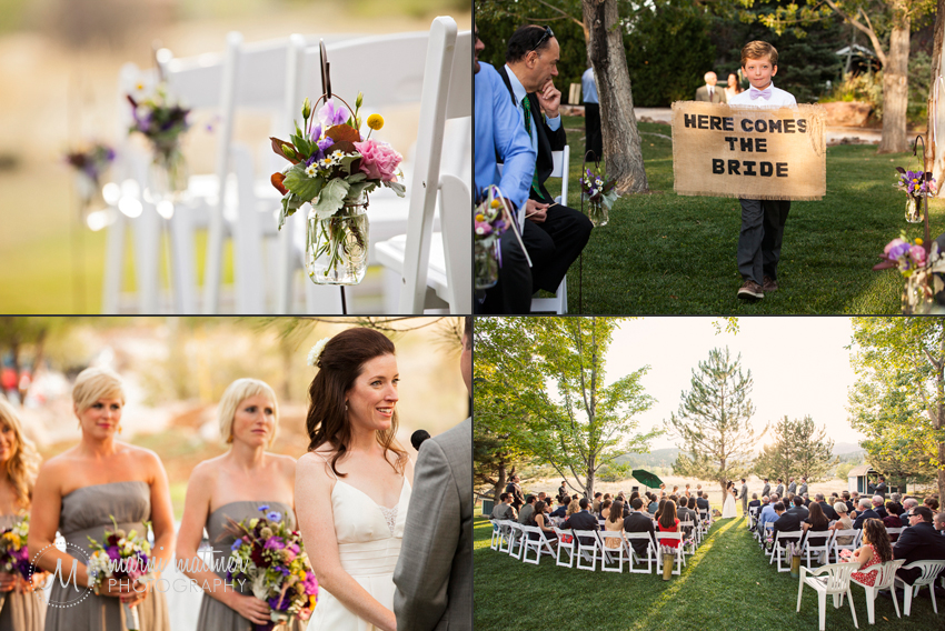 Greenbriar Inn Wedding Ceremony in Boulder, Colorado © Marni Mattner Photography