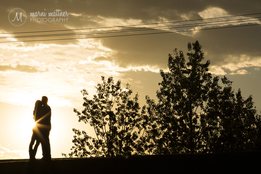 Sunset Engagement Photos in Denver, CO © Marni Mattner Photography