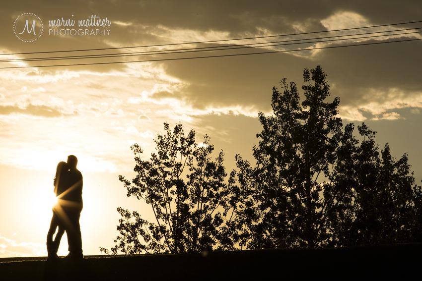 Sunset Engagement Photos in Denver, CO © Marni Mattner Photography