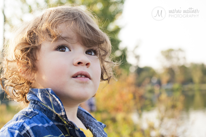 Max's Toddler Portrait in Denver's Wash Park in Colorado © Marni Mattner Photography