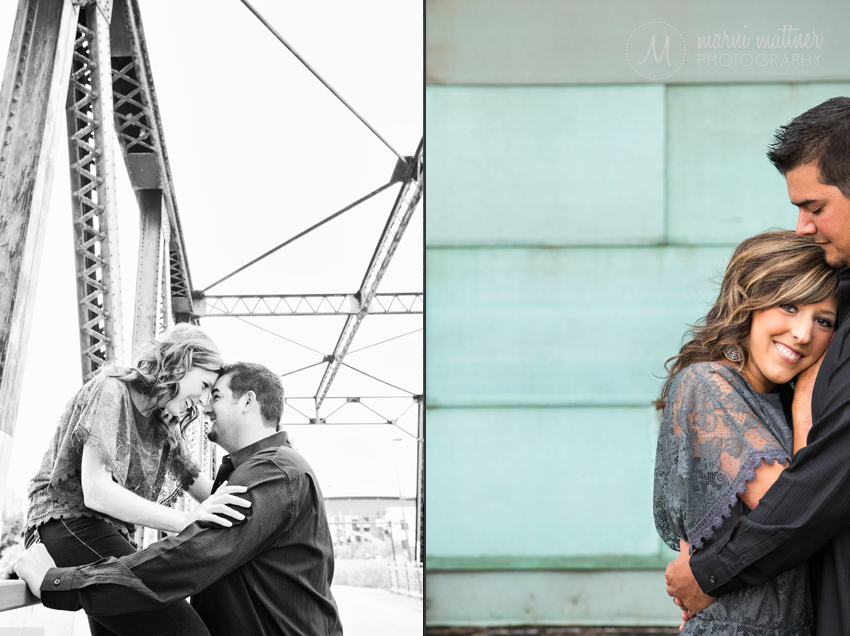 Urban Chic engagement Photos in Denver, CO's LoDo © Marni Mattner Photography