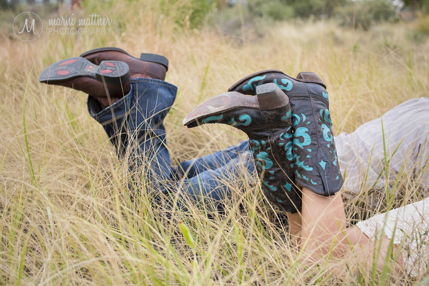 Matt & Brittany's Cowboy Boots for Country Engagement Photos in Denver, CO © Marni Mattner Photography
