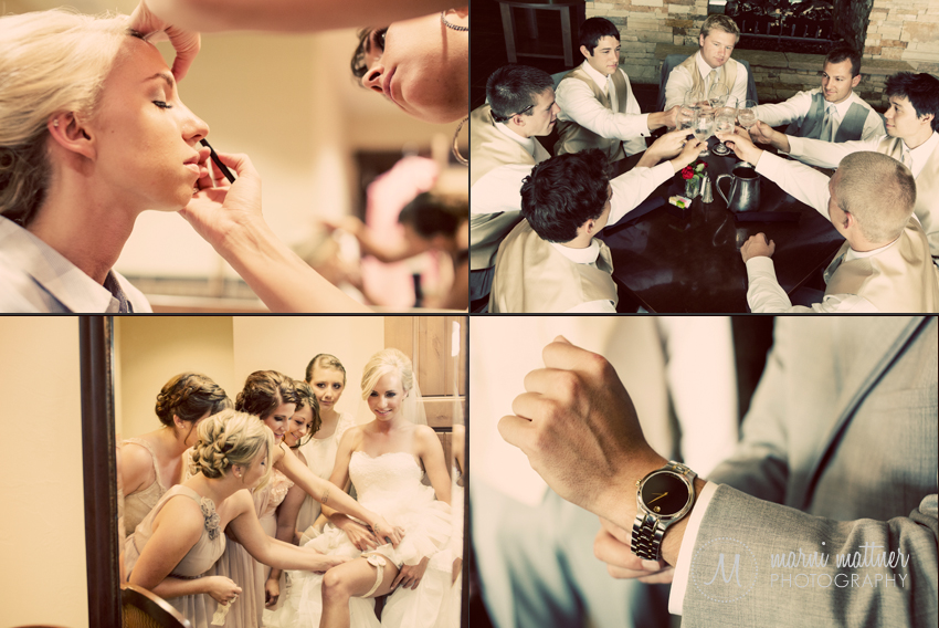 The Wedding Party Gets Ready At Rolling Hills Golf Club in Golden, CO © Marni Mattner Photography