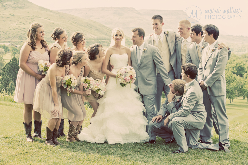 Eric & Brook's Wedding Party In The Mountains © Marni Mattner Photography