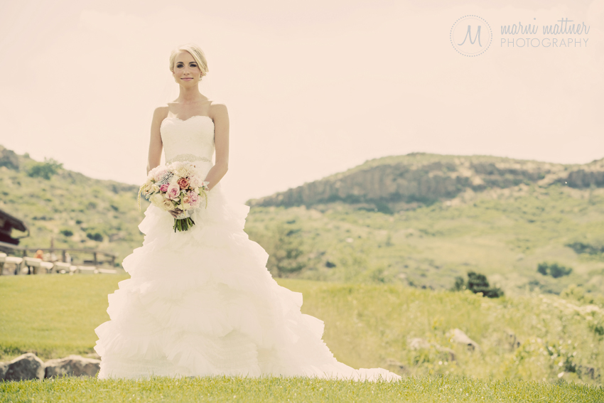 Brook And The Mountain Views Before Her Golden, Colorado Wedding © Marni Mattner Photography