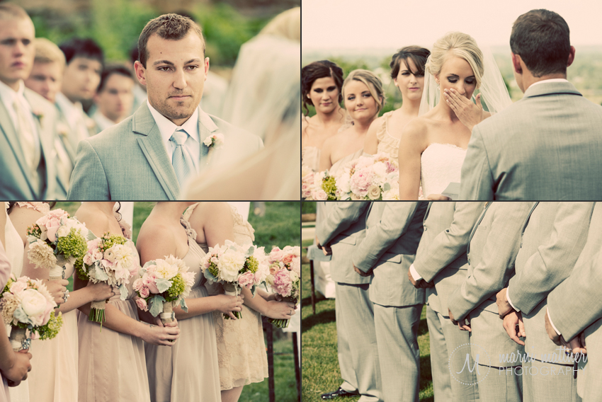 Eric & Brook Say Their Wedding Vows at Rolling Hills Golf Club in Golden, CO © Marni Mattner Photography