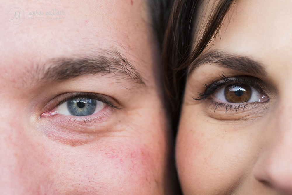 Sarah & Jim's eyes © Marni Mattner Photography