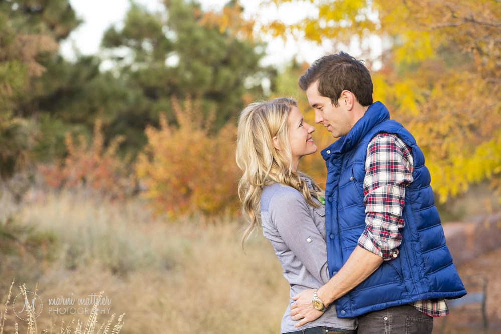 Commons Park engagement photos of Nicole & Britton in autumn © Marni Mattner Photography
