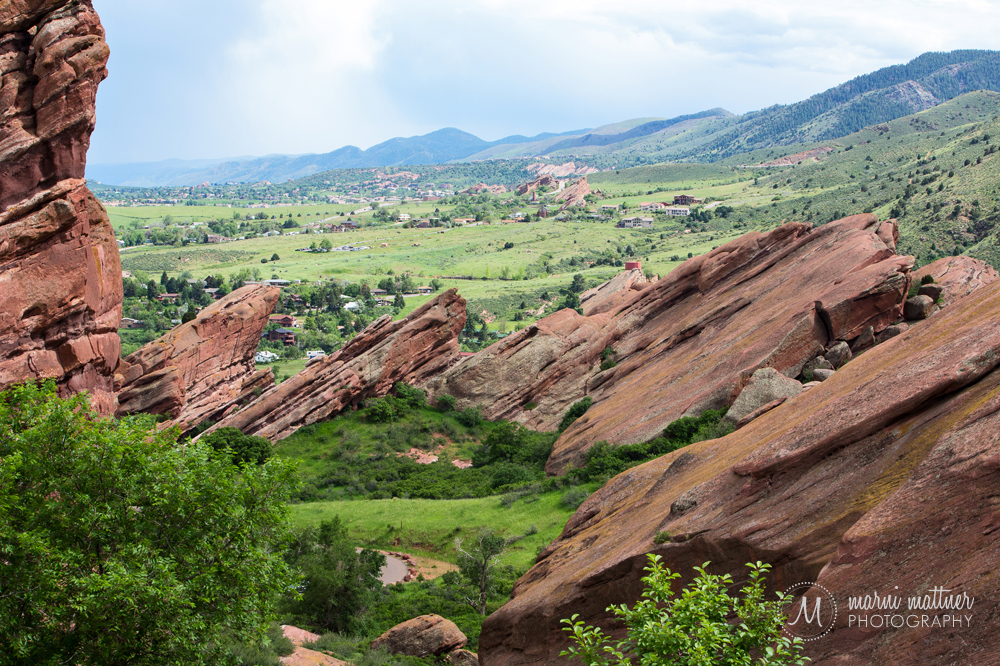 The view from the wedding at Red Rocks Trading Post, between rain showers
