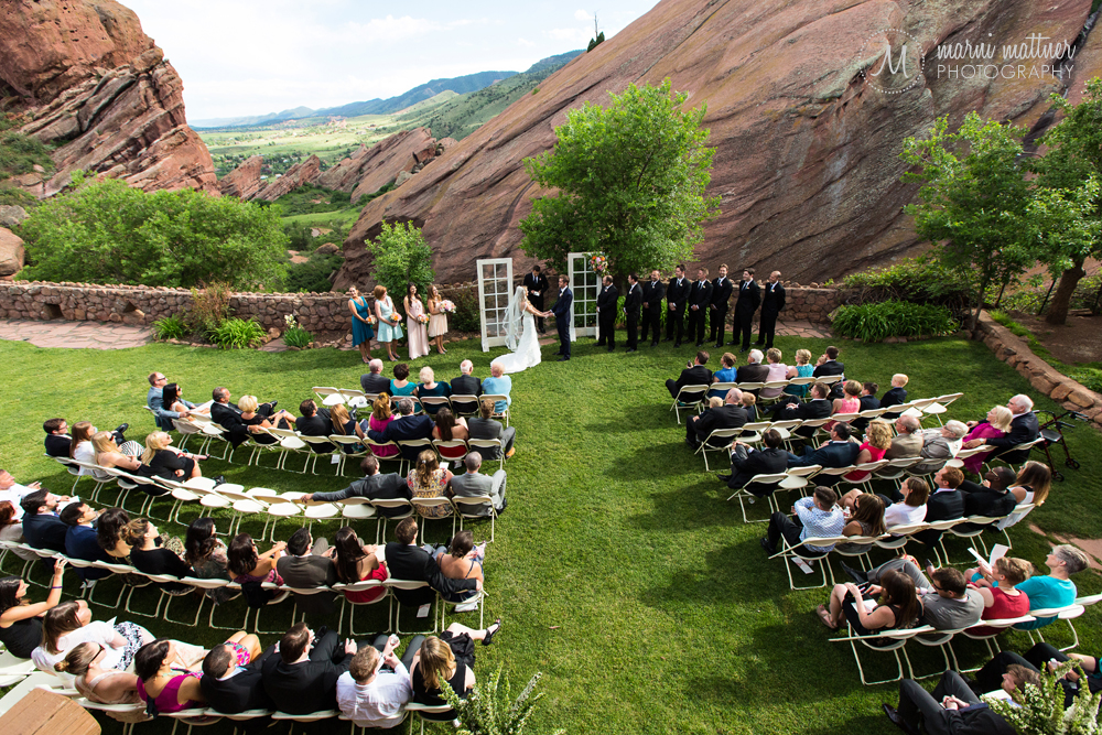 Red Rocks Trading Post wedding ceremony of Britton & Nicole