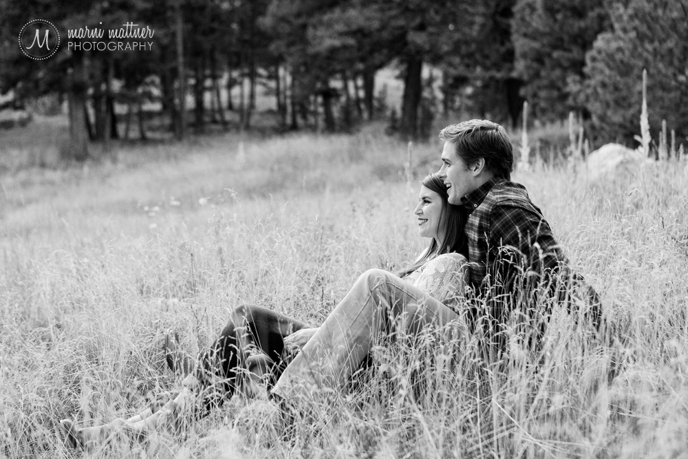 Mountain engagement photos of Blake & Jenny in Evergreen, Colorado