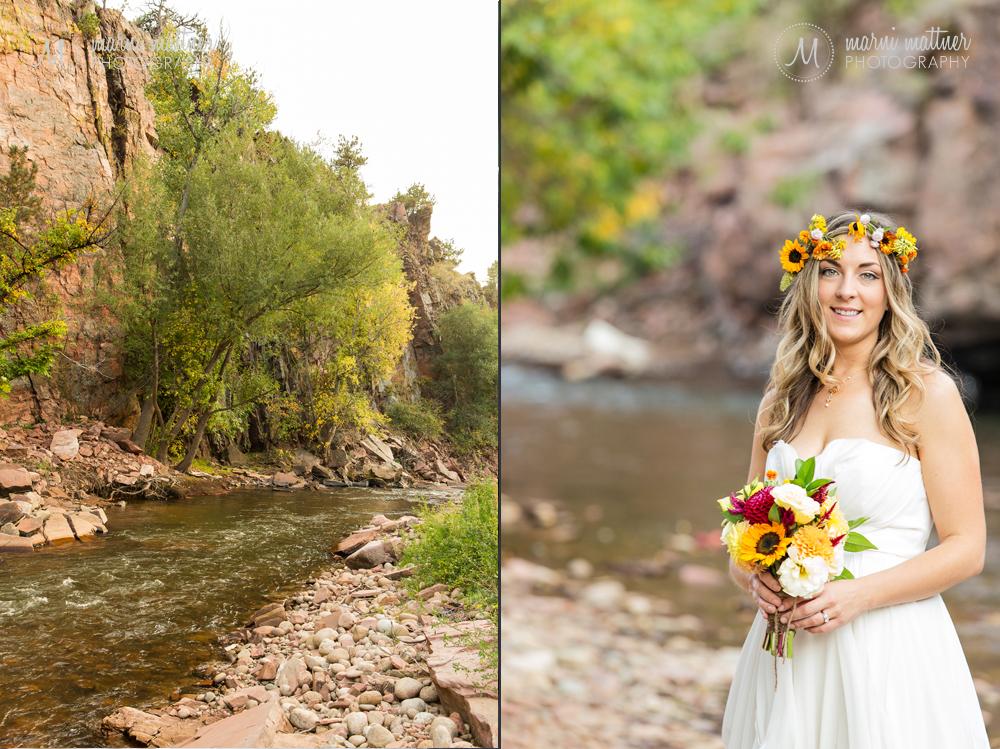 Matt & Christy by Riverbend's river Wedding in Lyons, CO