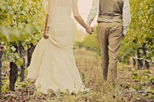 Bride And Groom In California Vineyard For Wedding Photos © Marni Mattner Photography
