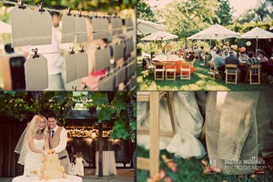 Outdoor Garden Reception In Wine Country © Marni Mattner Photography